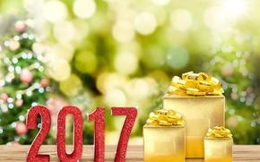 Обои 2017, Подарки, Праздники, Новый Год