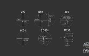 Картинка zoom, weapons, ACOG, arma2, day z, dayz, M203, SVD, DMR, CZ-550, arma 2, M24, arma