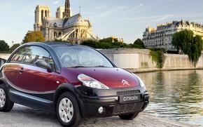 Картинка Париж, собор, Citroen, pluriel, C3