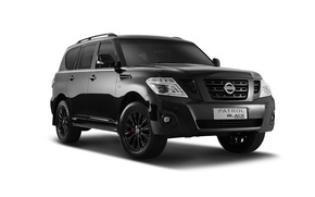Обои патрол, Patrol, белый фон, Nissan, черный, Black, ниссан
