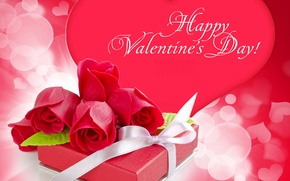 Обои фото, Цветы, Сердце, Розы, День святого Валентина, Праздники, Подарки
