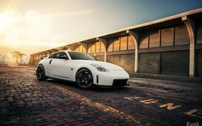 Картинка Nissan, white, 350Z, Nismo, Evano Gucciardo