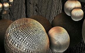 Картинка абстракция, шары