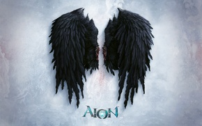 Картинка Aion, Black, Wing, Evill