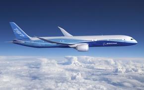 Обои авиация, самолёты, 787, облака, небо, boeing, dreamline