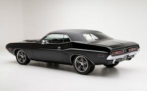 Картинка Челенджер, Додж, Muscle, 1971, Dodge, Challenger, Чёрный, Black
