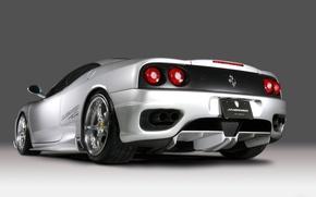 Обои Фары, Ferrari, Серебрянная
