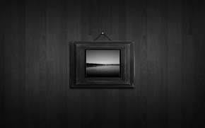 Картинка Стена, Черно-белая, Картина