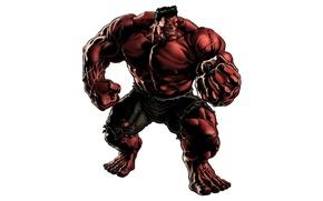 Картинка red, fist, rage, Red Hulk