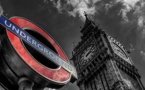 Картинка Англия, Лондон, Биг Бен, London, England, Big Ben, United Kindom, Underground