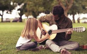 Обои музыка, люди, гитара