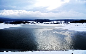 Обои море, озеро, лед