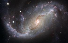 Картинка галактика, созвездие, Золотая Рыба, NGC 1672