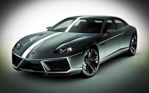 Обои белый, концепт-кар, Estoque, Lamborghini