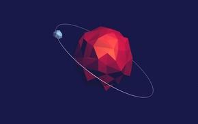 Картинка planet, satellite, orbit
