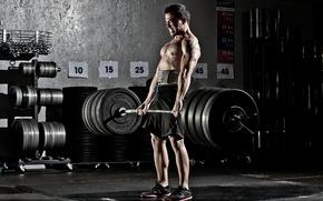 Картинка Gym, Powerlifting, Тяга
