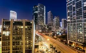 Картинка Miami, USA., city, город, красивого, огни, night, города, Майами