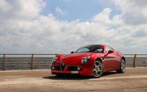 Картинка Alfa Romeo, Red, Competizione, 8C