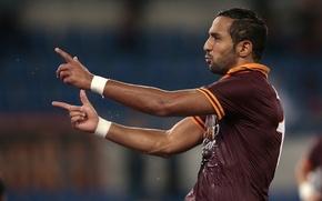 Картинка Football, Soccer, Defender, AS Roma, Exultation, Esultanza, Mehdi Benatia, Difensore