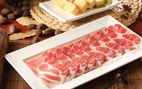Картинка мясо, нарезка, тофу