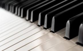 Обои музыка, пианино, макро