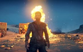Картинка взрыв, огонь, fire, Mad Max, Fury Road, Безумный Макс: Дорога ярости, Макс Рокатански