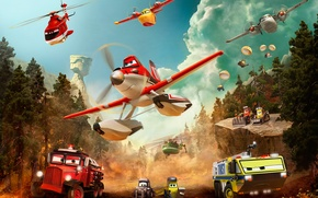 Картинка When others fly out, heroes fly in, Самолеты:Огонь и вода, Planes:Fire and Rescue