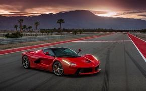 Картинка car, авто, Ferrari, суперкар, red, феррари, track, LaFerrari