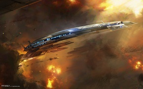 Картинка mass effect 3, normandy, sr2, alliance