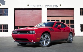 Картинка car, красный, здание, 2012, Dodge Challenger, кар, super, R/T, Festival Pavilion