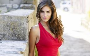 Картинка девушка, модель, блузка, красная, Anahi Gonzales