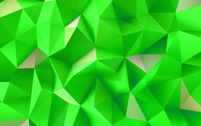 Обои Green, Wallpaper, Abstraction, Triangles