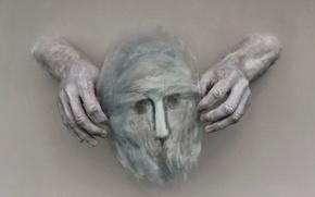 Картинка фон, руки, маска
