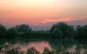 Картинка Закат, Небо, Кубань
