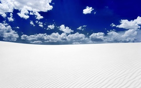 Обои небо, пустыня, песок