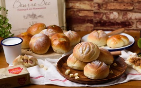 Обои хлеб, булочки, выпечка