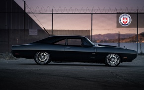 Картинка 1971, Dodge, Charger, with, HRE, Brushed, Tantrum, S104