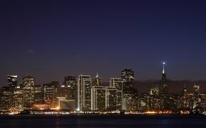 Картинка ночь, город, освещение, иллюминация