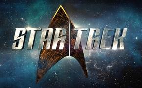 Картинка cinema, space, logo, Star Trek, movie, film, 50th anniversary, TV series, Star Trek: Discovery