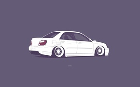Картинка Subaru, Impreza, WRX, STI, Minimalistic