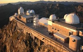 Картинка France, Mountains, Observatory, Pyrénées, Pic du midi de Bigorre, Astronomy