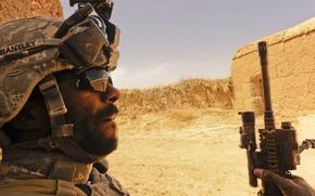 Обои пустыня, солдат, ирак, usa