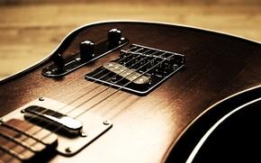 Картинка гитара, струны, корпус
