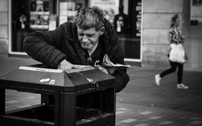 Картинка man, poverty, homeless