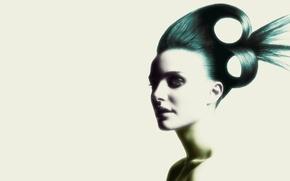 Картинка портрет, Волосы, Прическа