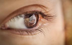 Картинка ресницы, отражение, Глаза