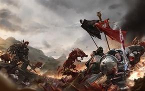 Картинка chaos, space marines, shield, grey knights, daemon, warhammer 40K, daemonette, imperium, banner, black legion, power …