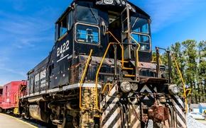 Картинка поезд, железная дорога, локомотив, train, railway, locomotive, Norfolk Southern 2422 EMD MP15DC