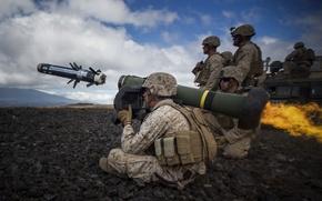 Картинка оружие, армия, выстрел, солдаты, Javelin
