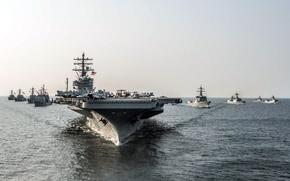 Картинка оружие, корабли, армия, USS Ronald Reagan (CVN 76)